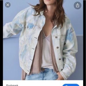 Free people tie dye jean jacket